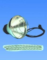 Schutzkorb für Infrarotstrahler mit Sparschalter.