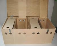 4er Transportkiste für große Tauben und Zwerghühner